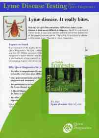 Lyme disease. It really bites.